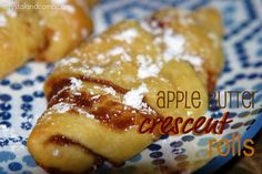 Apple Butter Crescent Rolls.  Two of my favorite things....I will have to try this!!