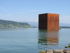 """Monolith"" by Jean Nouvel. Jean Nouvel, Small Buildings, Corten Steel, Creative Artwork, Art Of Living, Architecture Details, Architecture Board, Cubes, Exterior"