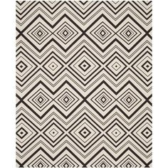 Cedar Brook Ivory/Brown 7 ft. x 9 ft. Area Rug