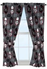 Star Wars Ep7 Rule Galaxy 63 Gray Drapery/Curtain 4pc Set (2 Panels 2 Tie bac...