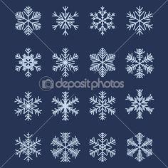 Simple Snowflake Shapes (Set #1)