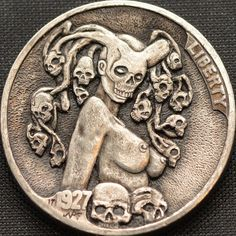 Hobo nickel coin, hand engraved by Narimantas Palsis (Nari). Find Hobo Nickel coins on eBay Metal Sculpture Wall Art, Metal Art, Aluminum Foil Art, Custom Coins, Hobo Nickel, Coin Art, World Coins, Rare Coins, Coin Collecting