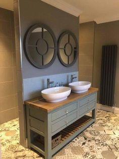 Oak Bathroom Furniture, Oak Bathroom Vanity, Bathroom Basin Taps, Solid Oak Furniture, Vanity Basin, Bespoke Furniture, Bathroom Island, Bathroom Ideas, Washroom