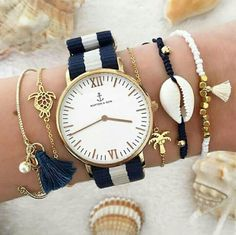 Love this color combo. Navy & gold from Kepten & Son