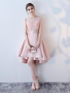 A-Line Appliques Lace Pleats Asymmertry Homecoming Dress Dress Out, One Piece Dress, Girl Photo Poses, Girl Photos, Really Pretty Girl, Pretty Girls, Homecoming Dresses, Lace Shorts, Girl Outfits