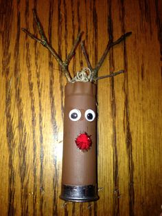 Shotgun shell Rudolph ornament