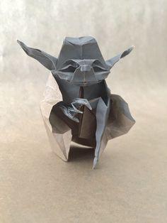 """Fossil""Origami Jedi Master Yoda Designed by #FumiakiKawahata #StarWars#figure #OrigamiYoda"