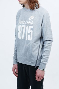 Nike Track and Field 8715 Sweatshirt in Grey - Urban Outfitters