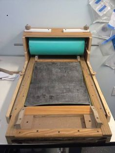 Homemade proofing press, the newest addition to K E R N girl studio.