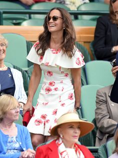LONDON, ENGLAND - JUNE 27:  Pippa Middleton attends day one of the Wimbledon Tennis Championships at Wimbledon on June 27, 2016 in London, England.  (Photo by Karwai Tang/WireImage) via @AOL_Lifestyle Read more: http://www.aol.com/article/2016/07/05/pippa-middleton-continues-her-reign-as-wimbledons-fashion-queen/21424681/?a_dgi=aolshare_pinterest#fullscreen