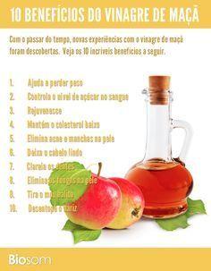 Clique na imagem para ver os 10 benefícios incríveis do vinagre de maça para…