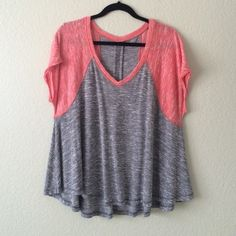 Free People Flowy Baseball Tee In great condition, no trades, no holds, no modeling, Posh only. Thanks for looking!  Free People Tops