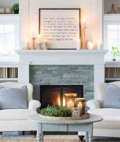 74 Modern Minimalist Master Living Room Interior Design 2018 Modern living room Cozy living room Home decor ideas living room Living room decor apartment Sectional living room Living room design A Budget Small Fireplace, Farmhouse Fireplace, Home Fireplace, Living Room With Fireplace, Fireplace Design, Fireplace Ideas, Propane Fireplace, Fireplace Stone, Cottage Fireplace