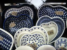 Heart shaped baking dishes