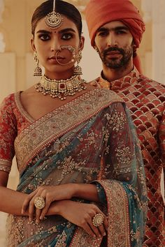 Indian Fashion — The Udaipur Collection by Sabyasachi Mukherjee. - Indian Fashion — The Udaipur Collection by Sabyasachi Mukherjee… - Indian Fashion Trends, Indian Bridal Fashion, India Fashion, Ethnic Fashion, Asian Fashion, Latest Saree Blouse, Saree Blouse Designs, Sabyasachi Sarees, Indian Sarees