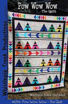 880779749105 Pow Wow Wow - Quilt Pattern -Whistlepig Creek Productions- Design Susan  Marsh - includes instructions for baby