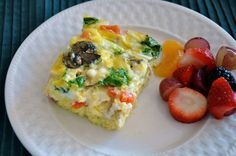 Egg Omelette and fruit cup