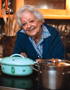 Marcella Hazan - beloved of most thinking cooks who love great produce, true flavors and wonderful Italian food.  She has taught us all through her amazing range of cookbooks.  I love of conversations on Facebook. I pay homage to this great woman, intellect, teacher to us all on food and life.  Frankly, like you all, I love her.