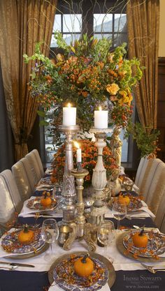 Fall/Autumn, Thanksgiving holiday tablesetting inspiration.