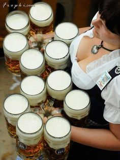 Beer, babes and non-stop partying – it's never too early to secure your spot at the Oktoberfest in Munich, Germany. Enjoy 16 days of beer guzzling, pork munching and Bavarian beauties. German Oktoberfest, Oktoberfest Beer, Octoberfest Girls, Octoberfest Costume, Beer Maid, Beer Girl, All Beer, Free Beer, Beer Cheese