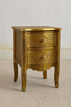 Hand-Embossed Nightstand (Gold) £228