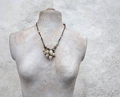a beachcombers' pocketful  sculptural necklace by greybirdstudio