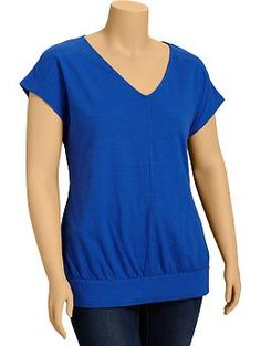 ordered! ............ wish the sleeves were longer. not the most flattering silhouette, but the banded hem is good for hiding a belly. Women's Plus V-Neck Banded-Dolman Tops | Old Navy
