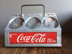 Vintage Coca Cola Aluminum 6pack Carrier . by YesterdaysTreasures1, $75.00