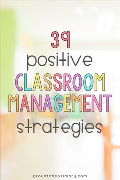 The ultimate list of classroom management strategies for the primary classroom directly from teachers in the classroom. Their ideas are organized into verbal and non-verbal strategies, parent communication tips, ideas for rewards and prizes, games, brain breaks, and visual classroom management strategies such as classroom organization ideas.