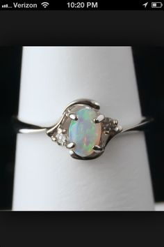 Opal engagement ring (: <3