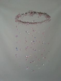 LIMITED EDition Pink and Gray Crystal Chandelier by magicalwhimsy, $105.00