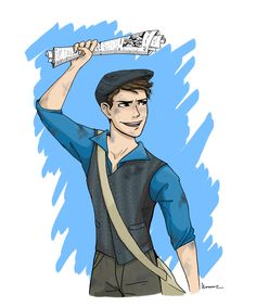 Carrying the Banner. Jack Kelly, from Newsies. Credit Abigail Conner.