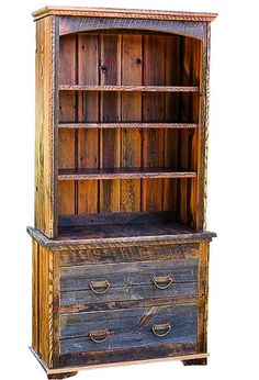 Rustic Red Fir Two Piece Bookcase Country Roads