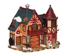 Lemax Wharton's Farm.  SKU# 15542. Introduced in 2001 and retired in 2003, this porcelain Lighted building was made for the Harvest Crossing Collection.