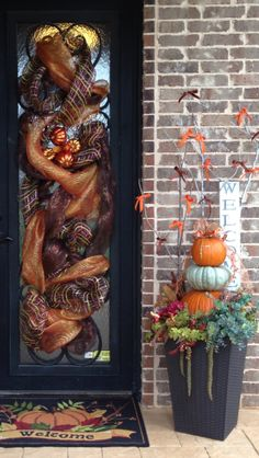 My front porch I decorated for fall......