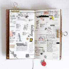 Last week in the Weekly Vertical insert for my Midori Traveler's notebook. As usual I've decorated the pages using stamps (some from @_sakuralala_ and some others tagged), stickers, and washi.