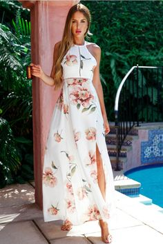 South Side Maxi Dress White