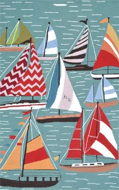Rosenberry Rooms has everything imaginable for your child's room! Share the news and get $20 Off  your purchase! (*Minimum purchase required.) Salem Sailboats Rug #rosenberryrooms