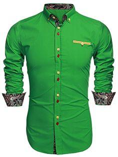 Coofandy Men's Fashion Slim Fit Dress Shirt Casual Shirt ...