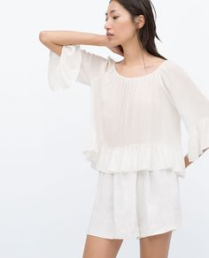 BOAT NECK BLOUSE-View all-Tops-WOMAN | ZARA United States