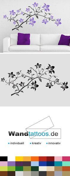 Wandtattoo Blütenzweig als Idee zur individuellen Wandgestaltung. Einfach Lieblingsfarbe und Größe auswählen. Weitere kreative Anregungen von Wandtattoos.de hier entdecken!