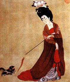 A lady of the Tang Dynasty palace (ancient chinese painting)