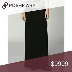 """🆕Essential Black Maxi Skirt🆕 The Essential Black Maxi Skirt is a must have for every wardrobe. Can be worn year round. Fold over waist. Stretchy. 95% Rayon 5% Spandex. Measurements were taken with the waist band up like in the last picture (not folded over); Small: 44"""" long, Medium: 45"""" long, Large: 46"""" long. Sofra Skirts Maxi"""