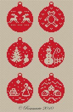 Julekugler, der skal bruges 3 firkantede plader i midi perler