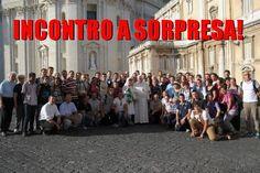 """Francesco 'a sorpresa' con un gruppo di giovani pellegrini di Brescia: """"la gioia viene dal vivere la vita in pienezza"""""""