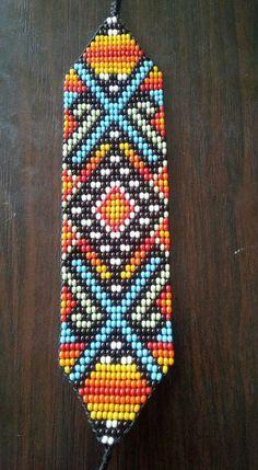 Beaded Bracelet Patterns, Bead Loom Patterns, Peyote Patterns, Beading Patterns, Beaded Jewelry, Native Beadwork, Native American Beading, Tear, Loom Bracelets
