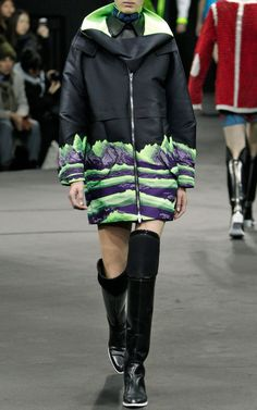 Oversized Pullover With Zipper Funneled Opening by Alexander Wang for Preorder on Moda Operandi