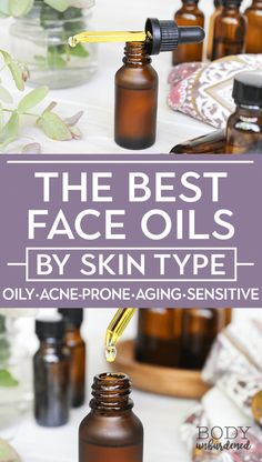 Have you tried using face oils yet? They're AMAZING for all skin types BUT are not one-size-fits-all. Find out which face oils is best for YOUR skin type: oily skin, acne and blemish-prone skin, dry skin, aging/mature skin, and sensitive skin. #naturalbeauty #greenbeauty #naturalskincare via @bodyunburdened #BestSkinCream