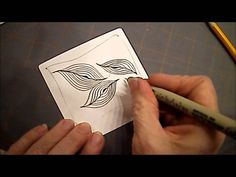 How to Draw Zentangle Pattern Aura-Leah Lesson #8