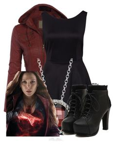 """Scarlet Witch inspired: formal"" by tardis-221b ❤ liked on Polyvore"